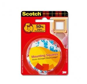 3M Scotch Double Side Mounting Square Tape, 20 Number